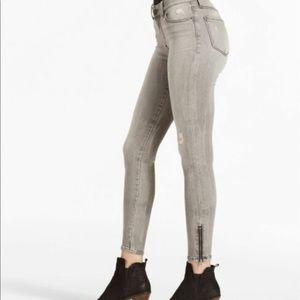 Lucky Brand Sasha Super Skinny 27 zip ankle